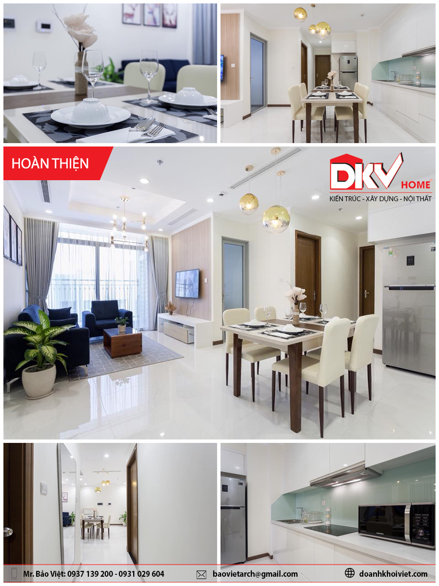 thiết kế nội thất Vinhome Central Park